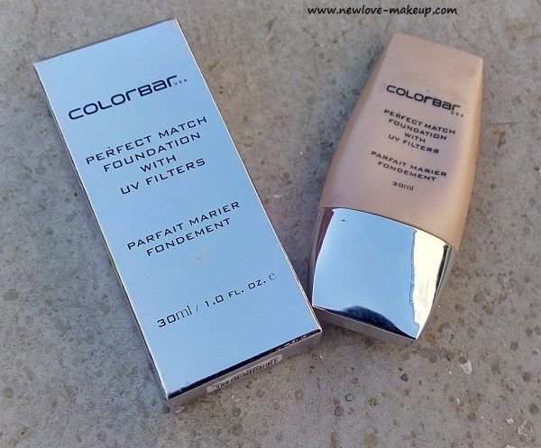 Colorbar Perfect Match Foundation Review, Swatches