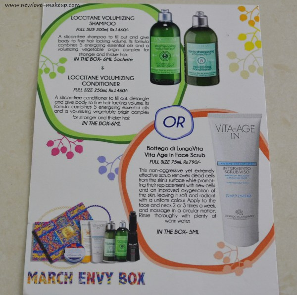 March 2016 My Envy Box Review, Unboxing, Indian Beauty Blog, Beauty Subscription Box India