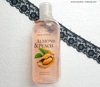 Studiowest Almond & Peach Refreshing Shower Gel Review, Indian Beauty Blog, Studiowest Reviews