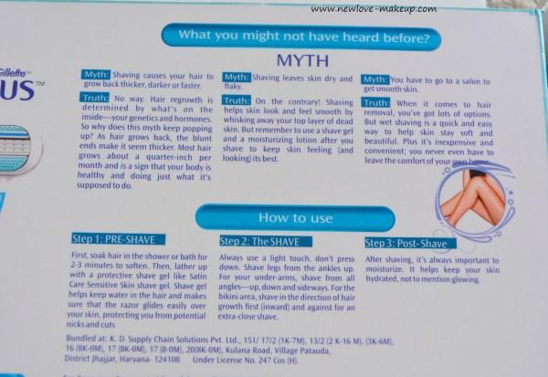 Busting Shaving Myths- Part 1, Hair Removal,Shaving,Indian beauty Blog,Gillette Venus Razor