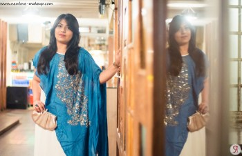 OOTD: White & Blue Embellished Gown, Indian Fashion Blog