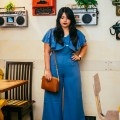 OOTD: Blue Flared Jumpsuit
