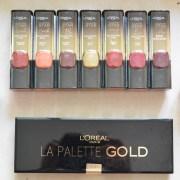 L'Oreal Paris #BoldInGold Collection Review, Swatches, Indian Makeup Blog