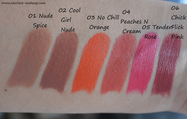 All Nykaa PaintStix Review, Swatches, Indian Makeup Blog