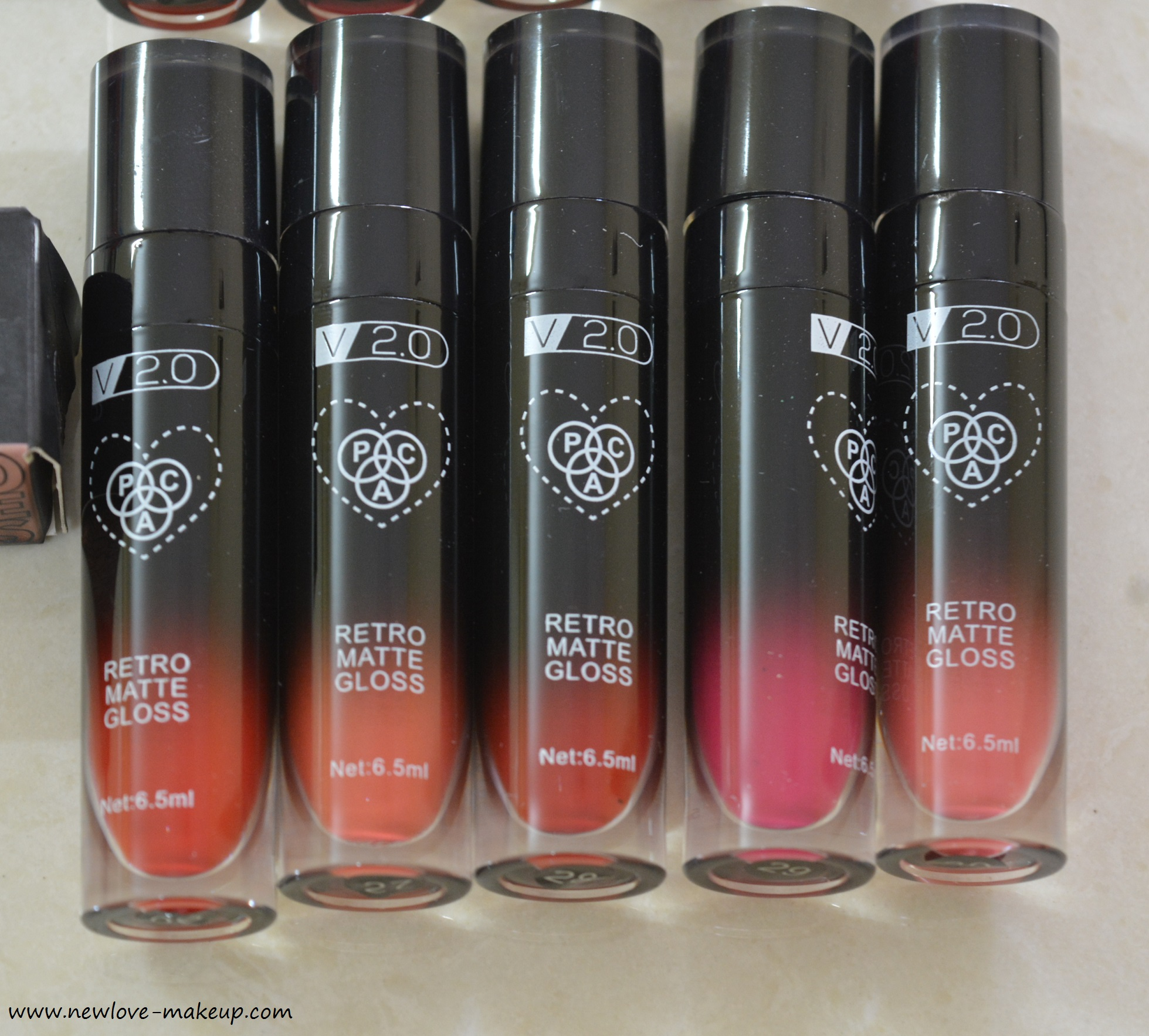 PAC Retro Matte Gloss V2.0 Shades 21 to 40 Review, Swatches