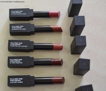 Sugar It's A Pout Time! Vivid Lipsticks 5 New Shades Swatches