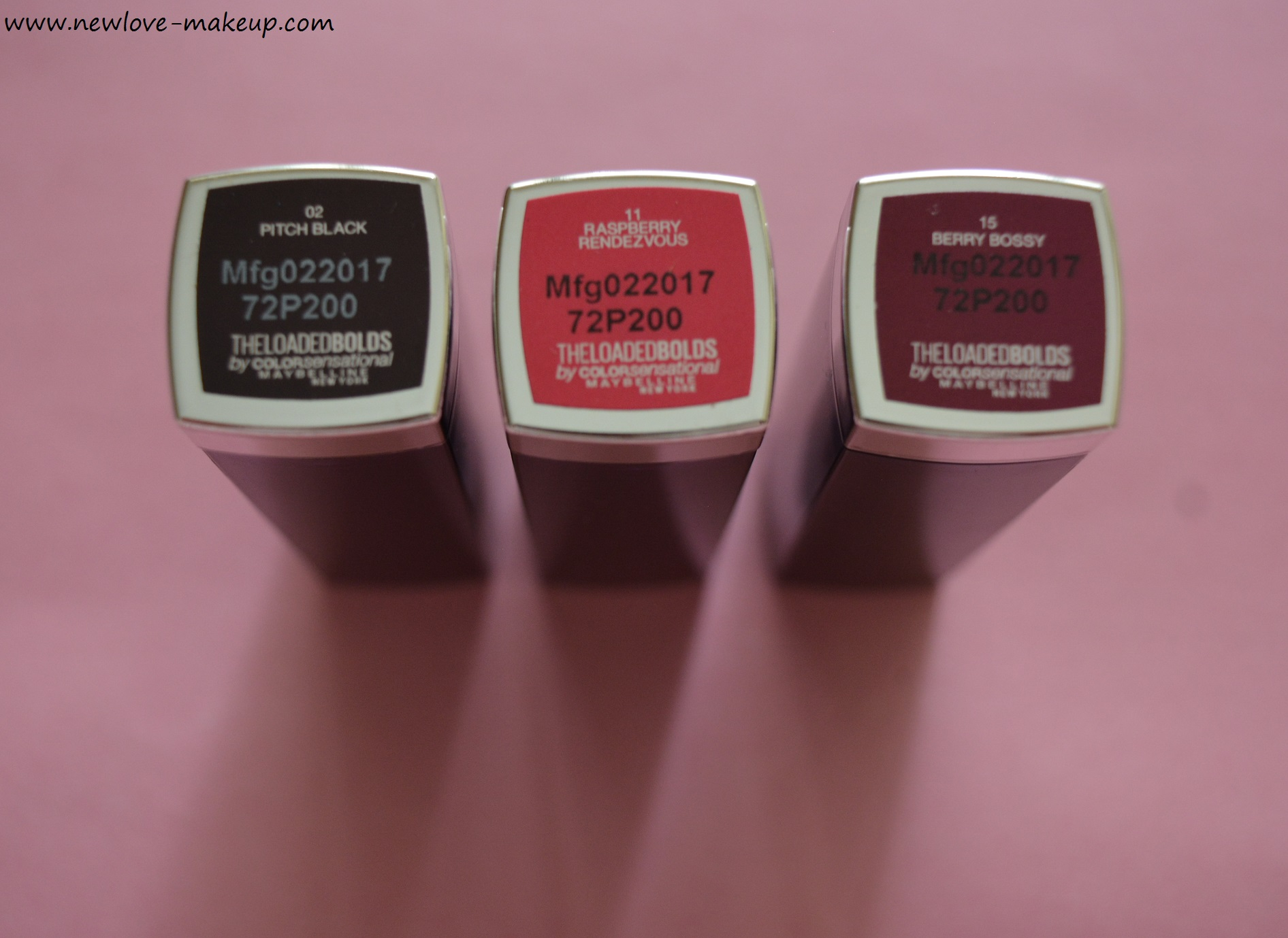 Maybelline The Loaded Bolds Lipsticks Review, Swatches