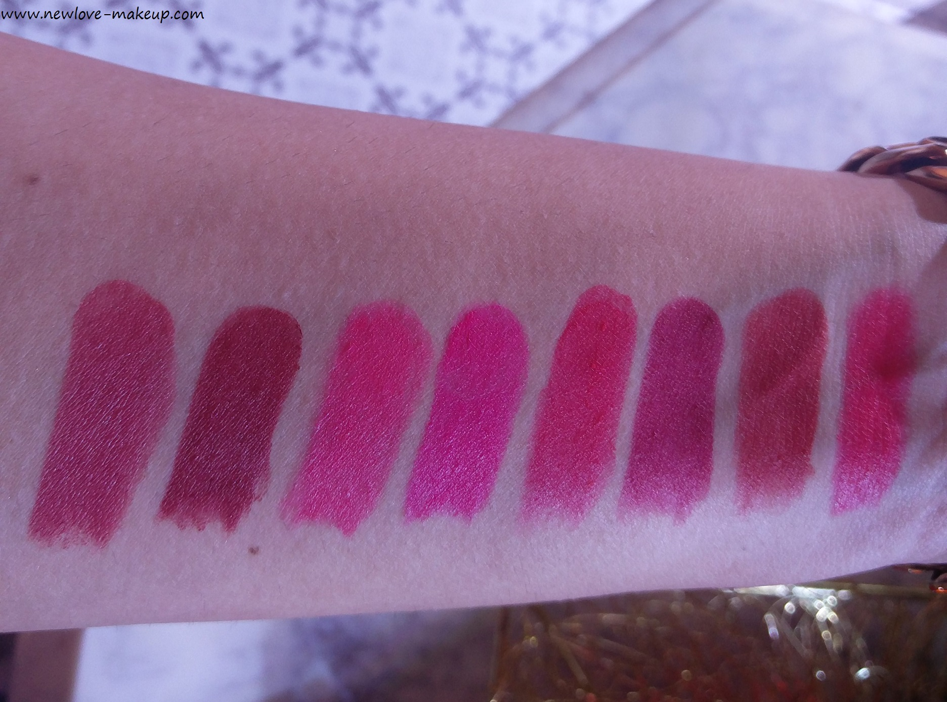 All Swatches - New Lakme Absolute Luxe Matte Lip Colour with Argan Oil