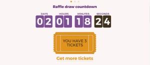 Larry Casino raffle draw countdown.