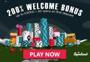 Spinland Casino Welcome Bonus
