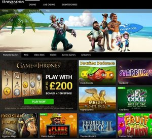 Barbados Casino Homepage