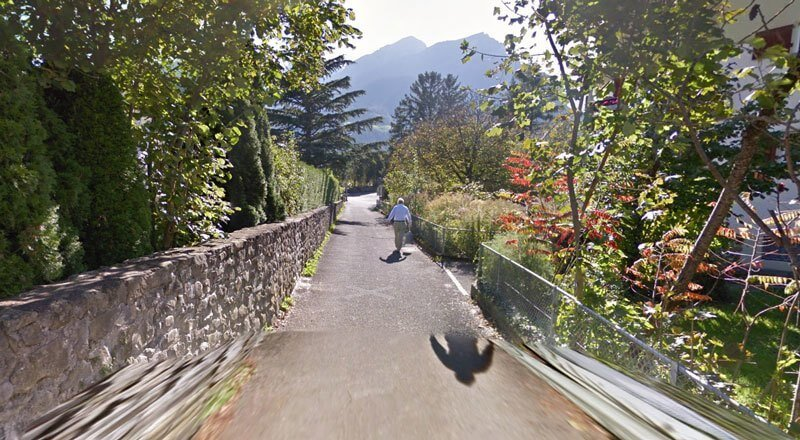 Swiss Alps Mountain Street