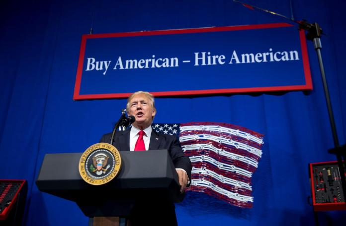 The Buy American First movement: Trump encouraged consumers to Buy American, and for employers to Hire Americans.