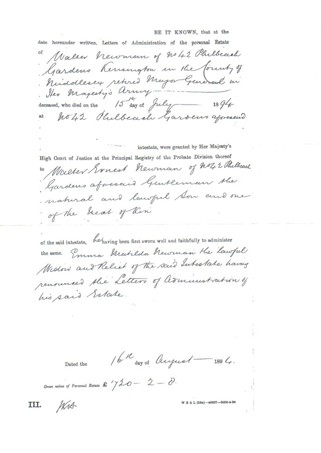 Letters Testamentary King County
