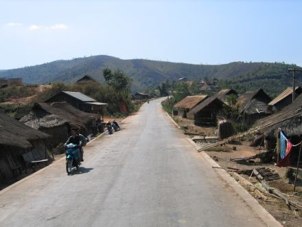A road in the eastern Shan State