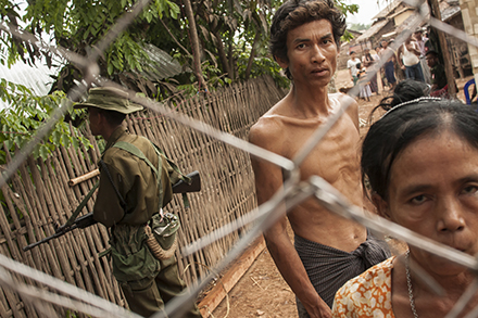 Squatters on the edge of Yangon. Photo by Boothe Thaik Htun.