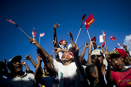An NLD rally in Myanmar's Rakhine State. Photo: Ye Aung Thu / AFP / Getty Images