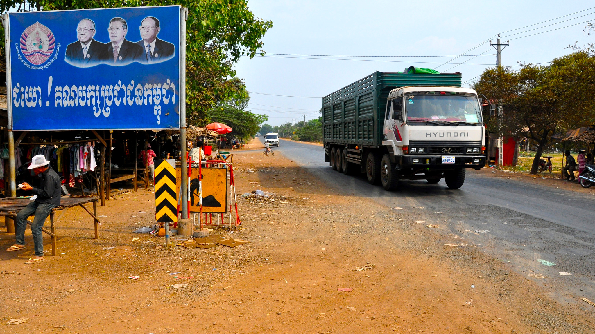 Image result for One of the ubiquitous billboards featuring Cambodian strongman Hun Sen. Photo: Flickr user Erwan Deverre, Creative Commons