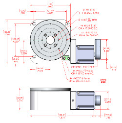 RM-5 Vacuum Compatible Rotary Stage