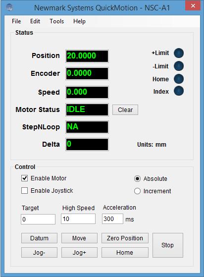 NSC-A1 Single Axis USB Stepper Motor Controller
