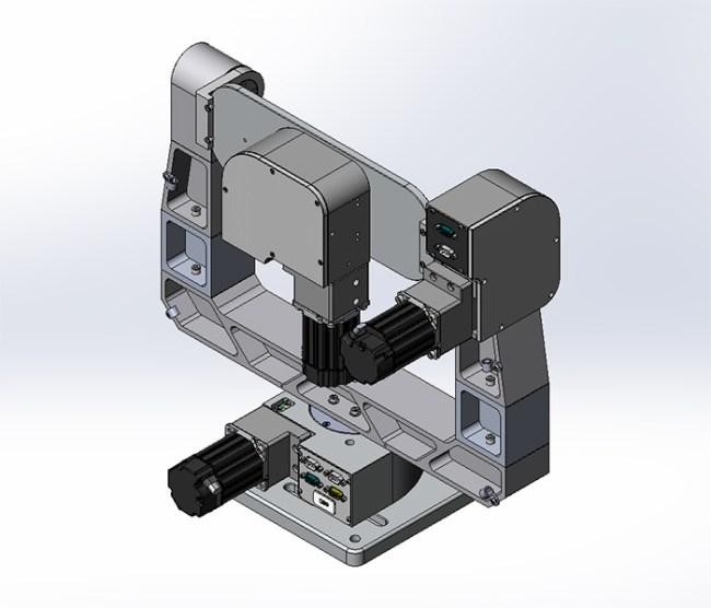 motorized 3 axis gimbal mount