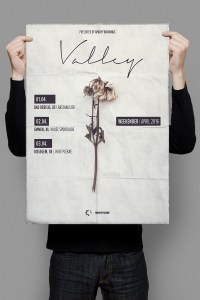 Valley, Konzertposter Design