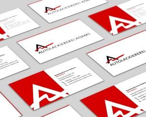 Autolackiererei Adams Mülheim, Printdesign, Webdesign