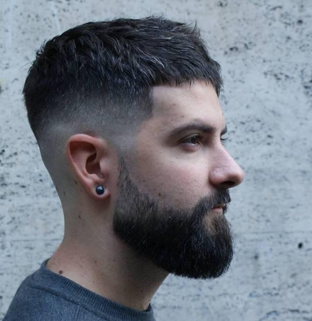 short-hairstyles-for-men-mid-fade-beard