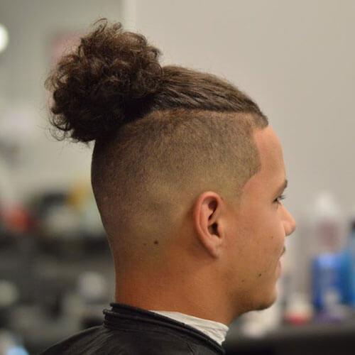 Curly Man Bun