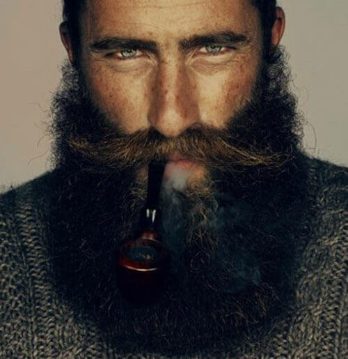Long Mustache and Beard Style