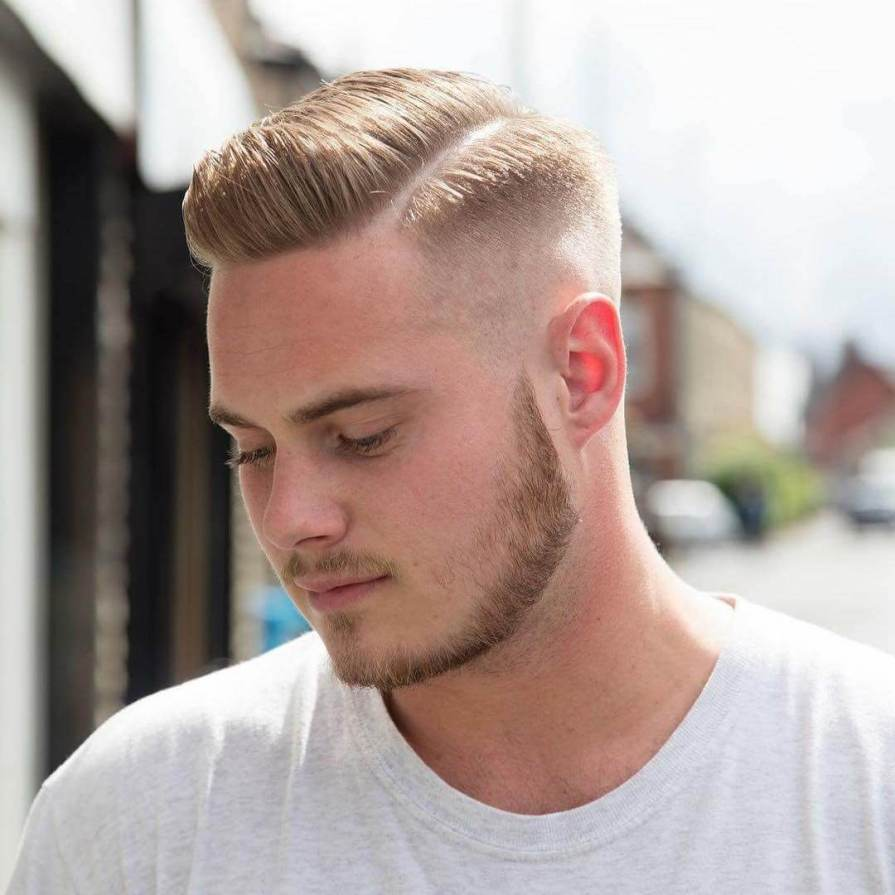 Side Part with High Fade Haircuts