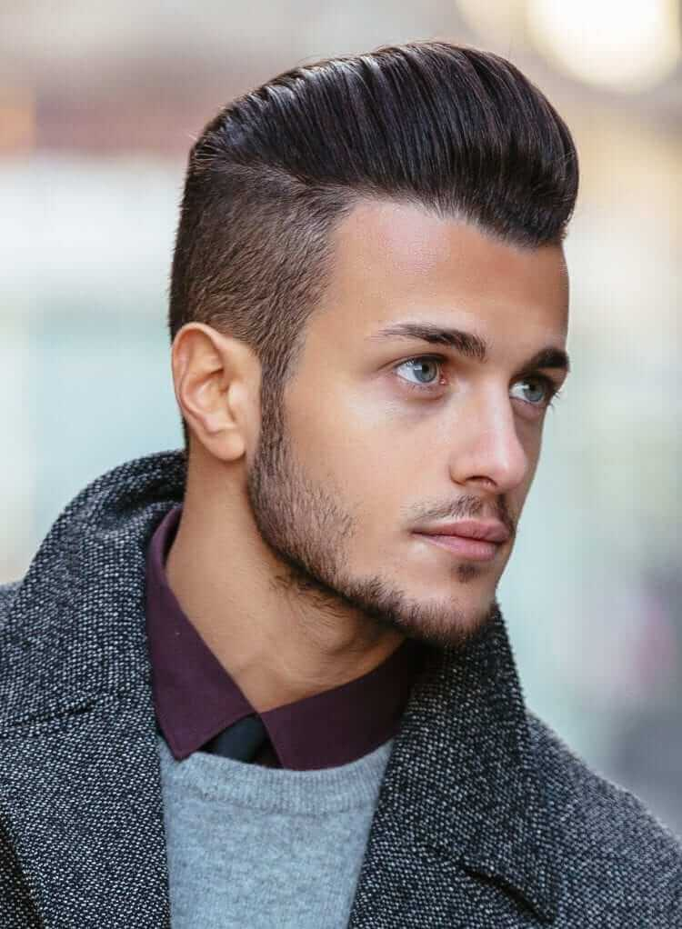 Pompadour + undercut for Men