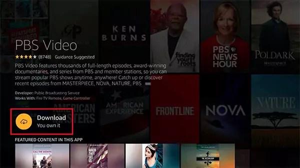 Fire TV Download PBS App