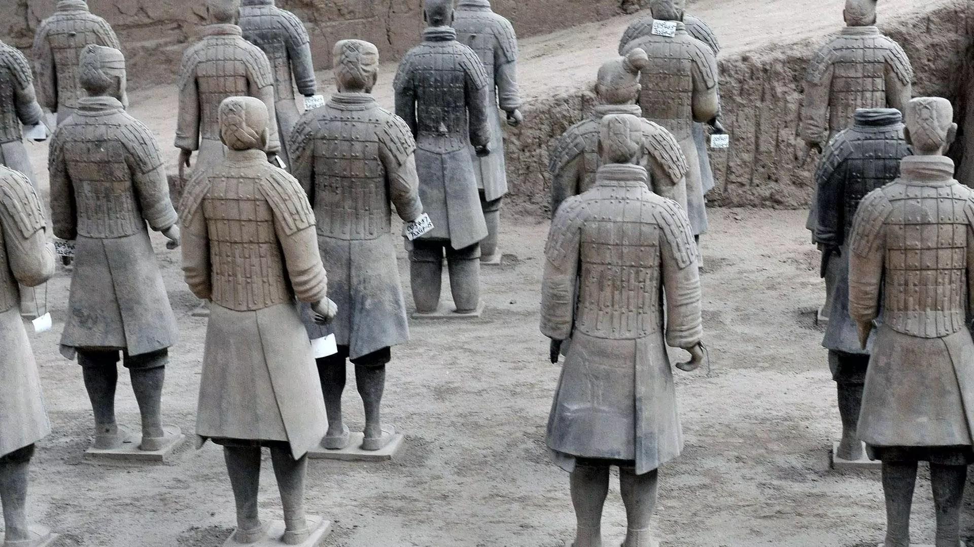 A group of terracotta warriors.