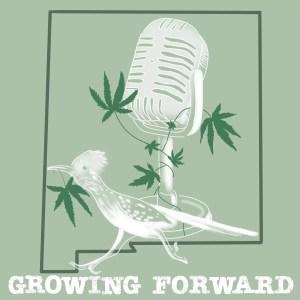 Growing Forward Logo with mic and marijuana leaf