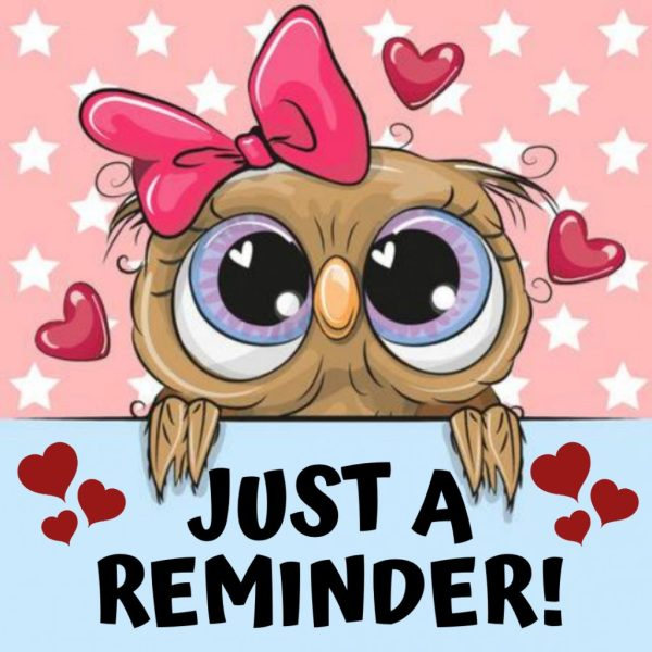 REMINDER OWL – Made with PosterMyWall – New Milford Public ...