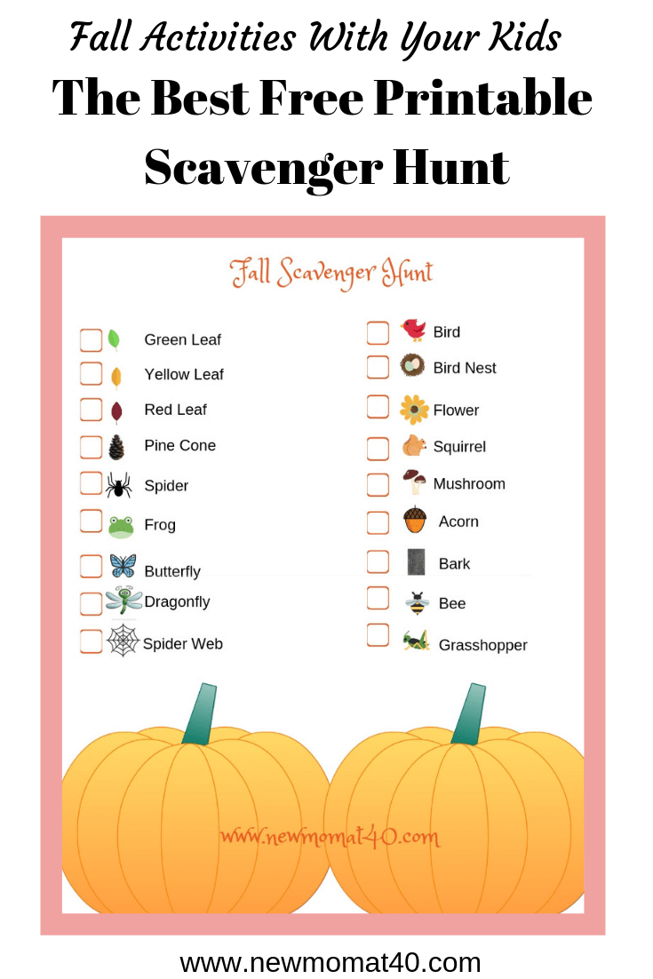 photograph about Fall Scavenger Hunt Printable known as The Excellent No cost Printable Tumble Scavenger Hunt