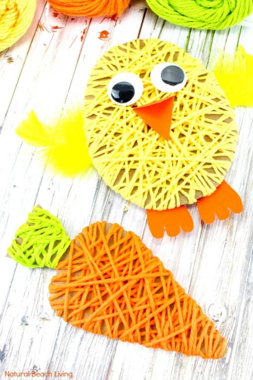 ea205c2b3f8f90 Easter Crafts for Kids, These Adorable Yarn Crafts for Preschoolers and  Easy Easter Crafts for