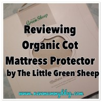Organic Cot Mattress Protector from The Little Green Sheep - Review