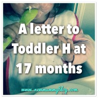 A letter to Toddler H at 17 months