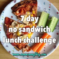 7 day 'no sandwich' lunch challenge for toddlers (and mummy too!)