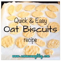 Quick and easy Oat Biscuits recipe