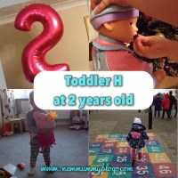 Real life with Toddler H - 2 years old