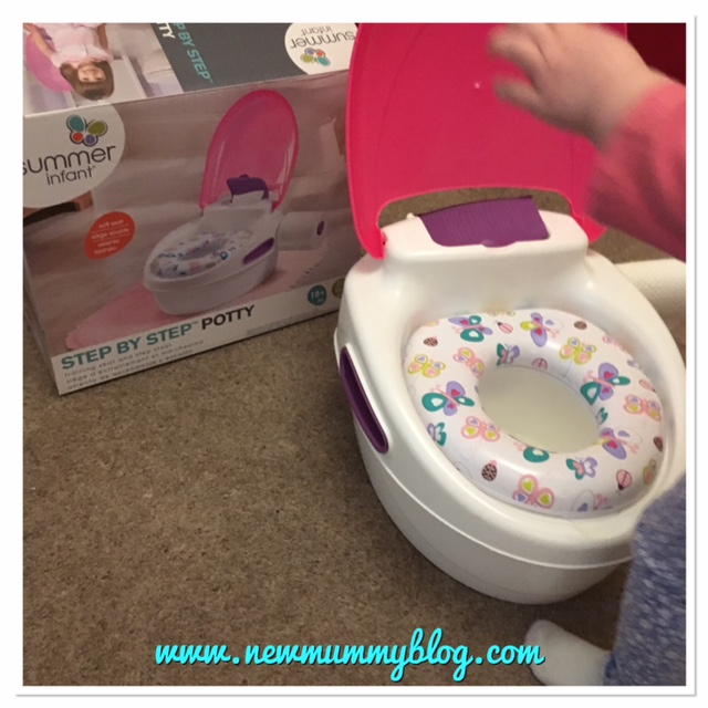 Review Potty Summer Infant Step by Step potty pink box