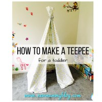 How to make a teepee tent for kids - a super easy DIY toddler teepee tent