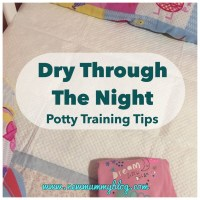 Dry through the night! | Potty training tips