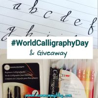 Learning calligraphy for #WorldCalligraphyDay | #Giveaway