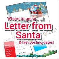 Free and paid for Letter from Santa | Last posting dates for your Letter to Santa 2017