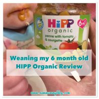 Weaning my 6 month old - HIPP Organic review
