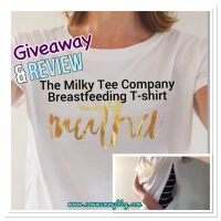 The Milky Tee Company breastfeeding t-shirt | #Review & #Giveaway